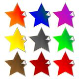 Fresh star-shaped labels Royalty Free Stock Images