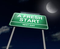 A fresh start. Royalty Free Stock Image