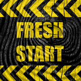 Fresh start sign Royalty Free Stock Image