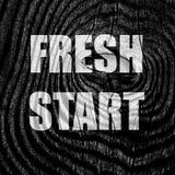 Fresh start sign Stock Photos