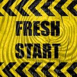 Fresh start sign Royalty Free Stock Photo