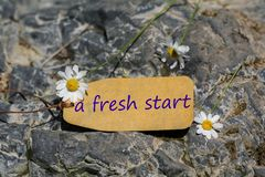 A fresh start label royalty free stock photography