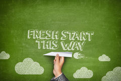 Fresh start this way concept Royalty Free Stock Images