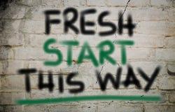 Fresh Start This Way Concept Stock Photos