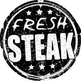 Fresh steak grunge style black rubber stamp. Stock Photo