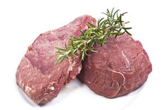 Fresh Steak's on a plate Stock Images