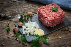 Fresh steak tartar Stock Photo