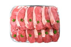 Fresh Steaks, Ready for the Grill Stock Photography