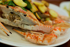 Fresh steam crab Royalty Free Stock Images