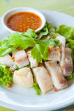 Fresh steam fish with sauce Royalty Free Stock Photo