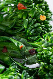 Fresh steamed broccolini Stock Image