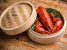 Fresh steamed lobster Stock Photos