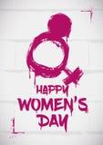Fresh Stencil Commemorating Women's Day, Vector Illustration Royalty Free Stock Photos
