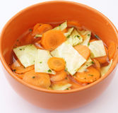 A fresh stew of carrots Stock Photography