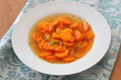 Fresh stew of carrots Stock Image