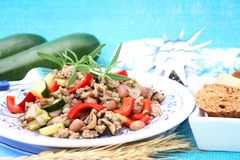 Fresh stew of meat with vegetables Stock Photography