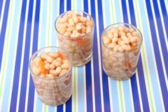 Fresh stew of white beans Royalty Free Stock Photos