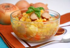 Fresh stew of yellow lentils Stock Photo