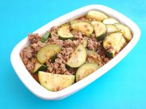 Fresh stew of zucchini Stock Images