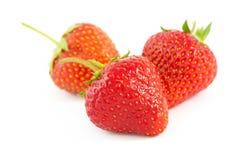 Fresh strawberies, isolated on white Royalty Free Stock Photo