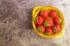 Fresh strawberies. Fresh ripe organic red strawberries Royalty Free Stock Photos