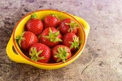 Fresh strawberies. Fresh ripe organic red strawberries Stock Photography