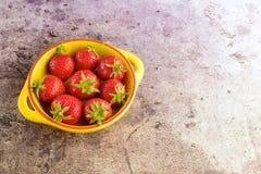 Fresh strawberies. Fresh ripe organic red strawberries Royalty Free Stock Photography