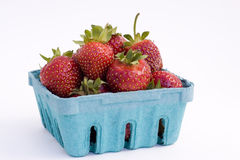 Fresh Strawberries. A quart of fresh strawberries Royalty Free Stock Images