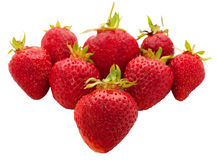 Fresh strawberries. On a white ground, formed by heart Stock Photography