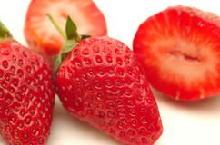 Fresh Strawberries. Isolated Stock Images