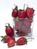Fresh strawberries. On white background Stock Photo