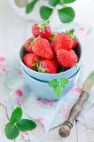 Fresh strawberries. In bowl Royalty Free Stock Photo
