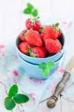 Fresh strawberries. In bowl Royalty Free Stock Image