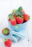 Fresh strawberries. In bowl. Strawberries Stock Photo