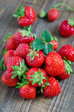 Fresh strawberries. Fresh strawberry on a wooden table Royalty Free Stock Photos