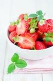 Fresh strawberries. In bowl. Strawberries Royalty Free Stock Image