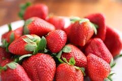 Fresh strawberries. Close up of Fresh strawberries on dish Stock Photos