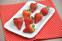 Fresh strawberries. A large group of fresh strawberries Royalty Free Stock Photography