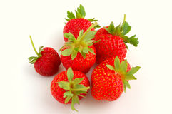 Fresh Strawberries. Isolated on white Royalty Free Stock Image