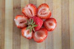 Fresh strawberries arrangement Royalty Free Stock Photo