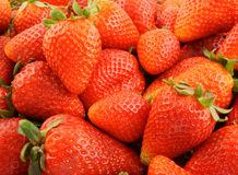 Fresh strawberries background Stock Photos