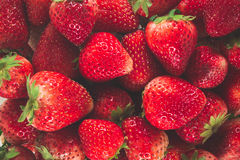 Fresh strawberries. Background from freshly strawberries. Top view royalty free stock photos