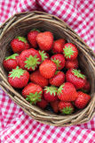 Fresh strawberries  in a basket Stock Photography