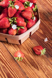 Fresh strawberries in a basket Stock Photo