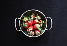Bowl full of Strawberries royalty free stock photography