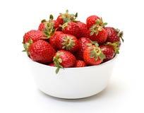 Fresh Strawberries in Bowl Royalty Free Stock Photos