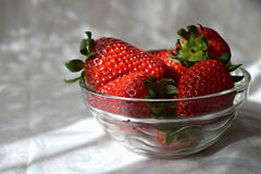 Fresh strawberries in a bowl Stock Photo