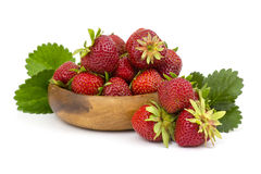 Fresh strawberries. In a bowl on white background Royalty Free Stock Photo