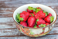 Fresh strawberries in a bowl Royalty Free Stock Image