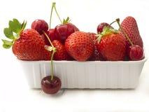 Fresh strawberries and cherries Royalty Free Stock Image